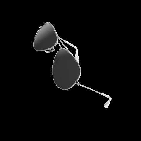 Slnečné okuliare so striebornými obrúčkami